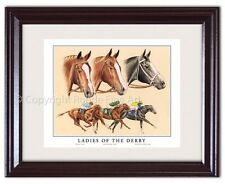 FILLY KENTUCKY DERBY WINNERS horse racing FRAMED ART Triple Crown collectible!
