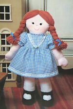 Rag Doll, Raggedy Ann, Toy Sewing Pattern