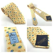 New Holland & Sherry Tie London 1836 Yellow Fish MSRP $115.00