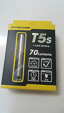 Nitecore T5s Cree XP-G R5 Stainless Steel SS AAA LED Flashlight  70 Lumens