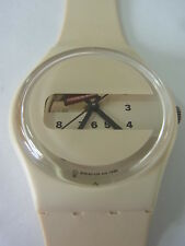 GW117 New Swatch - 1997 Screen Artistic Unique White Swiss Made Authentic