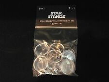 STAR WARS ACTION FIGURE DISPLAY STAND FOR VINTAGE FIGURES CLEAR X 20