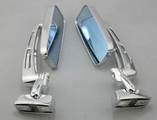 Chrome Adjustable Base Blue Mirrors For Suzuki Hayabusa GSX1300R 1999-2012 New