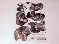 "VINTAGE GI JOE 1989 GI JOE MAIL OFFER ""STICKER POSTER"" STICKER SHEET 1 - HASBRO"
