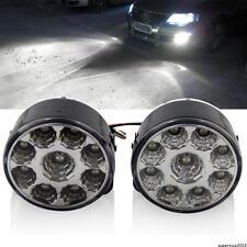 """Universal 2.76"""" Round Fog Driving Running Daytime Light Lamp Complete Kit White"""