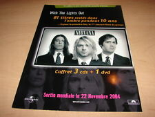 NIRVANA - WITH THE LIGHTS OUT!!!!!!! PUBLICITE / ADVERT