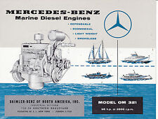 VINTAGE AD SHEET #3169 - 1960s MERCEDEZ BENZ MODEL OM 321 MARINE ENGINE