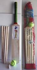 Kids Wooden Cricket Set Size 3 Bat Wickets Beil Ball Stumps Sport Toys New Xmas