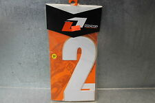 """New One Industries Pre Cut #2 Number Decal Sticker 7"""" White WHT 3 Pack"""