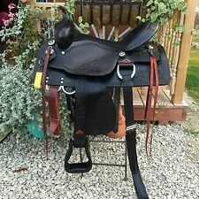 "Tough-1 Saddle Western Jacksonville Trail Full Quarter 16""- Black"