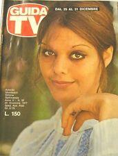 GUIDA TV 1977 N.52 TINA AUMONT MIKE BONGIORNO RADIO E TV PRIVATE