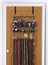 Longstem Men's Over the Door/Wall Organizer #9200 Tie Belt Rack Valet  Black****