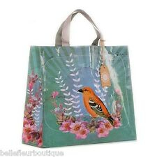 "Papaya Art Golden Bird Market Shopper Shopping Bag 15"" x 15"" x 5"""