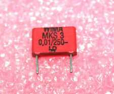 WIMA 0.01uF, 250V Poly Capacitor - Lot of 10 ( 28P279 )