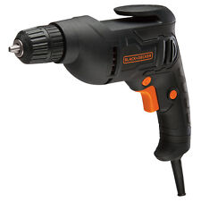 "BLACK & DECKER 3/8"" METAL CHUCK CORDED DRILL / DRIVER ELECTRIC HAND POWER TOOL"