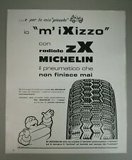 Pubblicità 1972 MICHELIN ZX PNEUMATICI AUTO CAR advertising werbung publicité