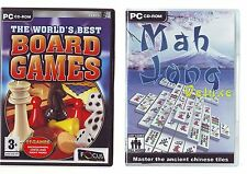 THE WORLD'S BEST BOARD GAMES & MAH JONG DELUXE - 2 PC GAMES - FAST POST - VGC