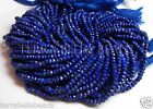 "Full 13"" strand blue LAPIS LAZULI faceted gem stone rondelle beads 3mm - 3.5mm"