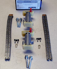 "JAGUAR V8 2001-2009, UPPER SECONDARY ""UPDATED"" TIMING CHAIN TENSIONERS w/CHAINS"