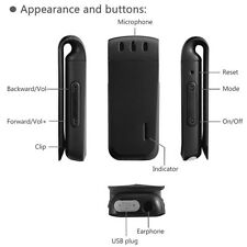 Clip On 8GB Rechargeable Digital Sound Voice Dictaphone MP3 Player Recorder IDC