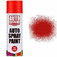 3 x 400ml Red Gloss Spray Paint Aerosol Can Auto Extreme Car Van Bike