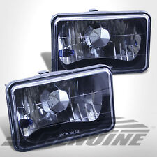 4X6 CONVERSION BLACK HOUSING DIAMOND CUT HEADLIGHTS - CHEVY PICK UP 81-87