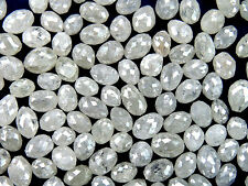 Natural Loose Diamond Long Drilling ice Grey Color 1.00 Ct Lot Egg Shape Q20