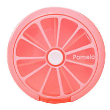 Creative Cute Fruit Pattern Round Tablet One Week Pill Boxes Storage Box Hot