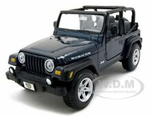 JEEP WRANGLER RUBICON BLUE 1:27 DIECAST MODEL CAR BY MAISTO 31245