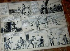 JULIO FREIRE ORIGINAL ART PAGE WESTERN COMIC ZORRO EL GORRION ARGENTINA 1960