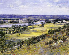 Oil painting theodore robinson - valley of the seine from giverny heights canvas