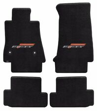 NEW! BLACK FLOOR MATS 2016-2017 Camaro Embroidered 50TH Fifty Anniversary Logo 4