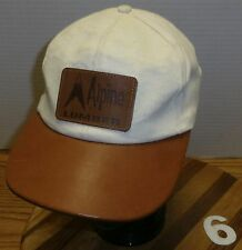 NICE ALPINE LUMBER COLORADO HAT ADJUSTABLE IN VERY GOOD CONDITION BROWN & WHITE
