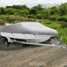 17 FT - 19 FT Waterproof Trailable FISHING/SKI/BOAT COVER V-Hull Gray PBT2G