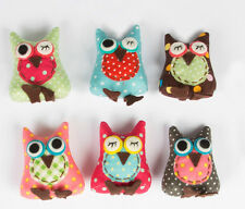 Sass & Belle Owlie Owl Key Ring - Cute Retro mixed fabric Designs - 6cm