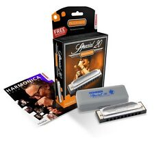 Harmonica - Hohner Special 20 Progressive Key Of B - Free Music Fun Harp+Lessons