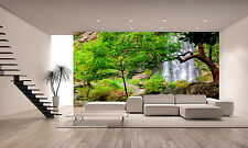 Waterfall in Rain,Forest Wall Mural Photo Wallpaper GIANT WALL DECOR