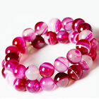Natural Stripe Agate Round Gemstone Loose Spacer Beads Jewelry 4/6/8/10/12mm DIY
