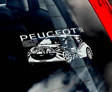 Peugeot World Rally - Car Window Sticker - WRC Chris Meeke 207 S2000 GTI Lion