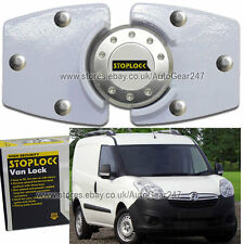 White Stoplock Vauxhall Opel Combo High Security Anti Theft Van Door Lock