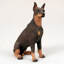 Doberman Pinscher Hand Painted Collectible Dog Figurine Statue Red