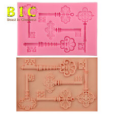Keys Designs 3D Silicone Molds candy Chocolate Cake fondant Decors Tools H3069