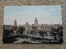 VINTAGE POSTCARD.NEW ROYAL INFIRMARY,MANCHESTER. NOT POSTED VALENTINE'S.SERIES.