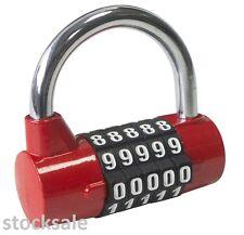 De 5 dígitos combinación Candado bolsa de viaje Equipaje Maleta bloqueo de seguridad de aleación de zinc