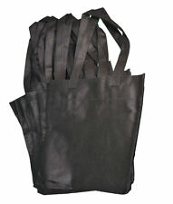 Lot of 10 Black Shopping Bag Totes Recycle Eco Friendly