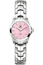 ON SALE AUTHENTIC TAG HEUER LADIES LINK WJF1412.BA0585 PINK PEARL SWISS WATCH
