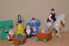LOT OF 7 Disney Snow White Figures Toys Cake Toppers Party Favors McDonalds