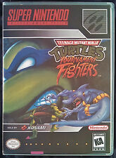 TMNT Tournament Fighters SNES Vertical High Quality Box art/Case by RetroDan