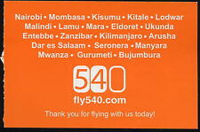 FLY 540 Airline AFRICAN airways TICKET Boarding Pass no timetables baggage - ax