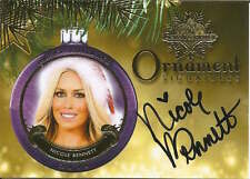 Nicole Bennett 2015 cert auto Ornament Signatures Benchwarmers trading card